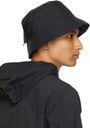Veilance Black Bungee Bucket Hat