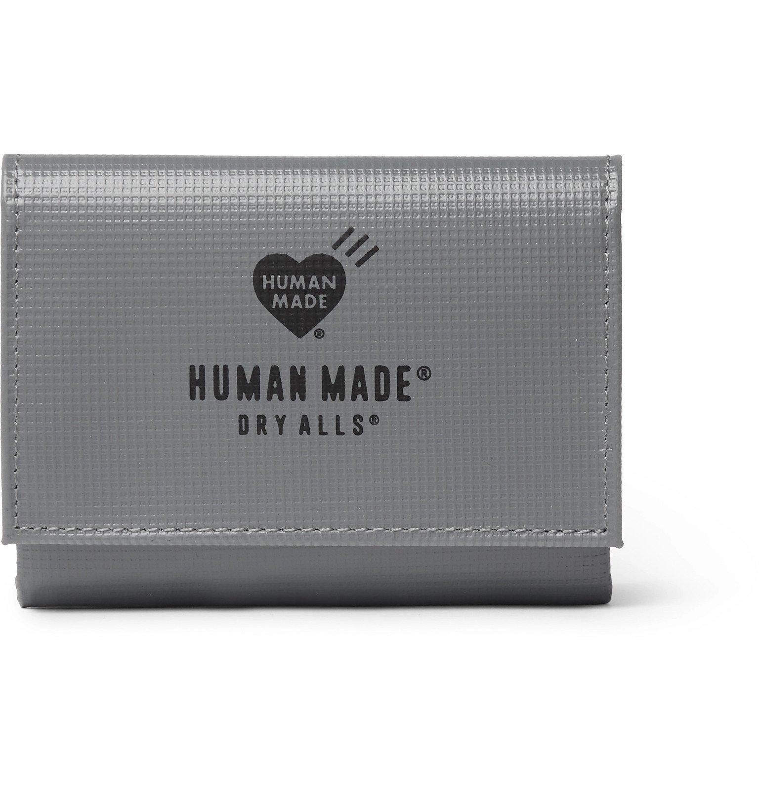 Photo: Human Made - Logo-Print Embossed-PVC Wallet - Gray