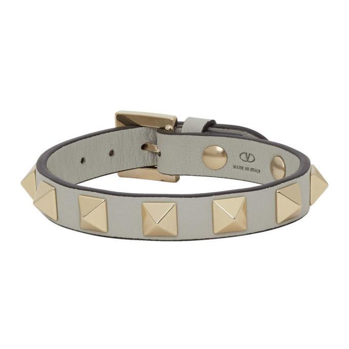 Photo: Valentino Grey Valentino Garavani Rockstud Bracelet