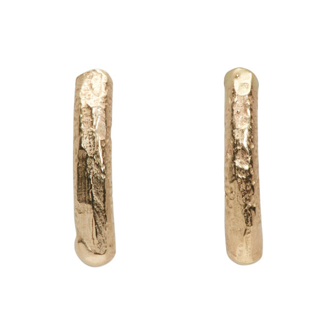 Photo: Pearls Before Swine Gold Small Textured Earrings