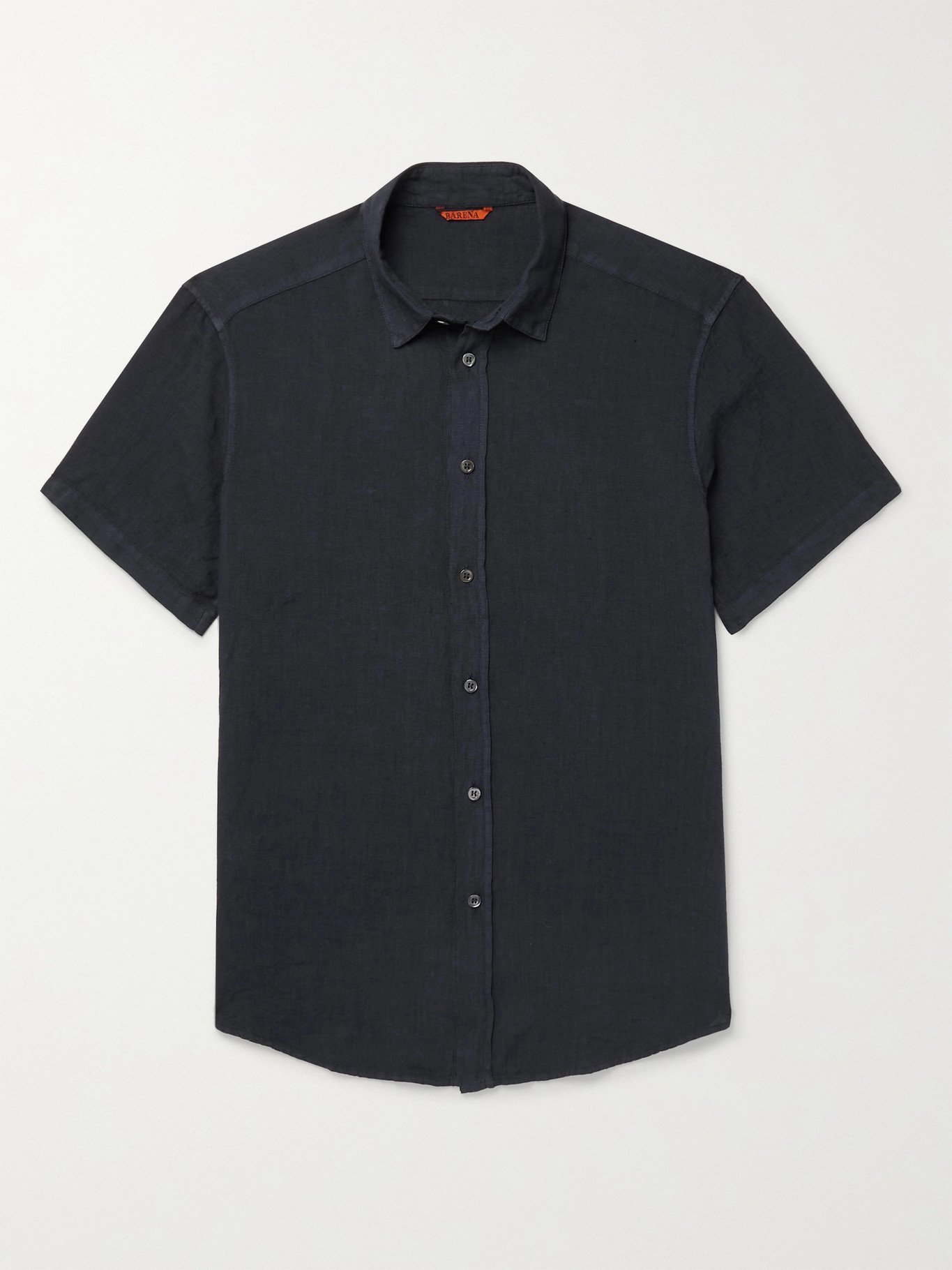 Photo: BARENA - Garment-Dyed Linen Shirt - Blue