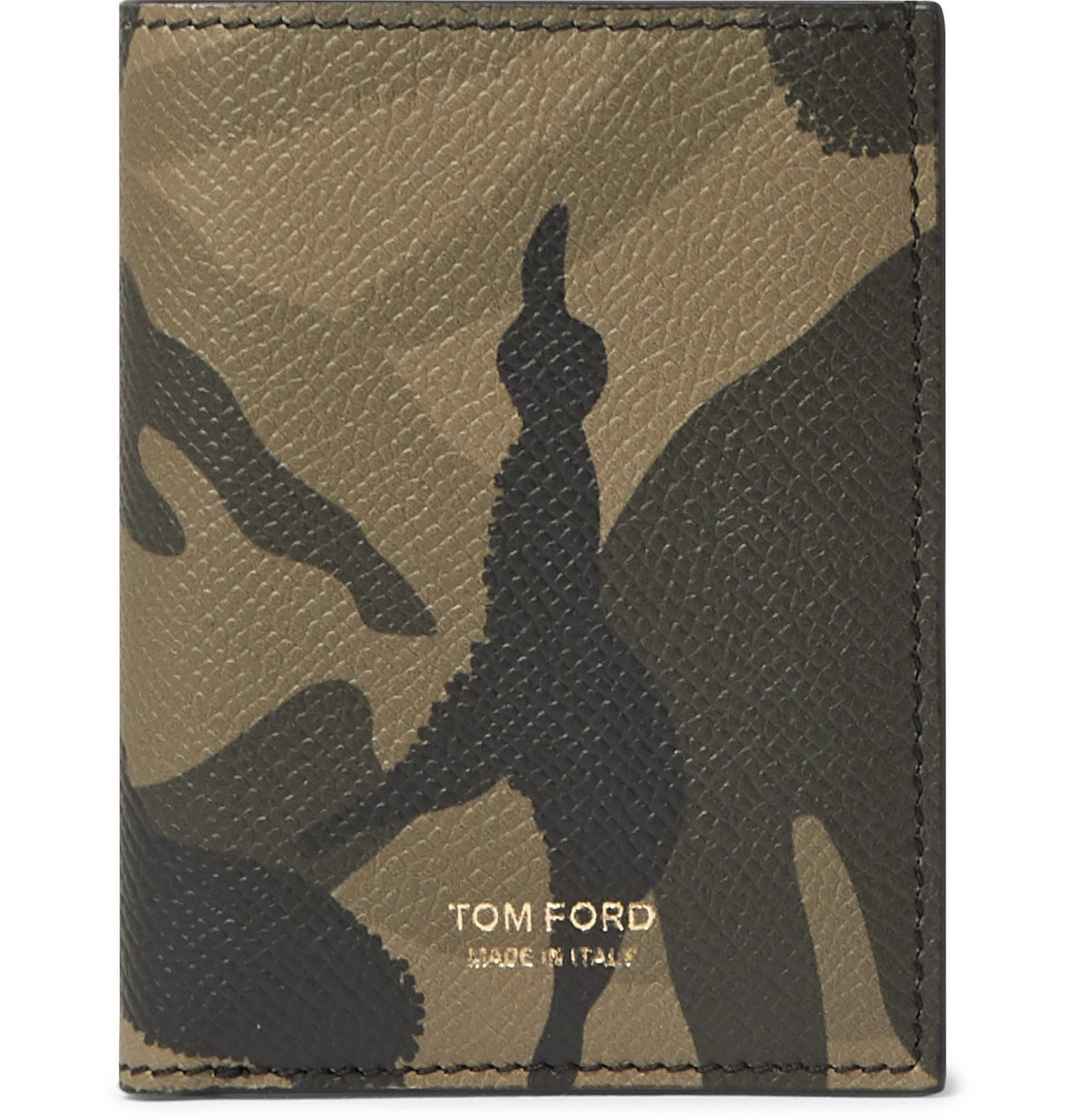 Photo: TOM FORD - Camouflage-Print Full-Grain Leather Billfold Wallet - Gray