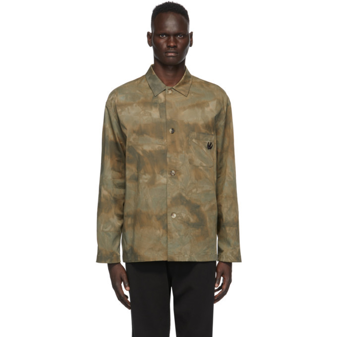 Photo: McQ Alexander McQueen Green Twill Lewis Shirt Jacket