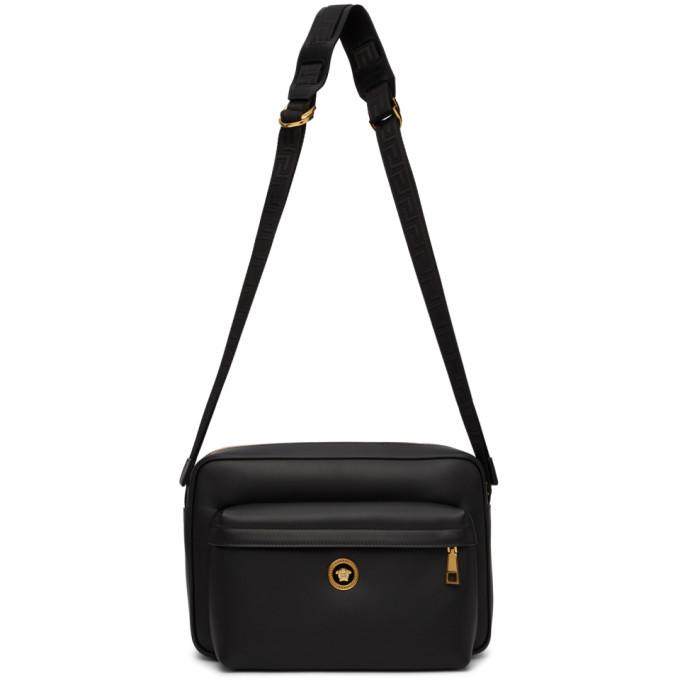 Photo: Versace Black Icon Messenger Bag