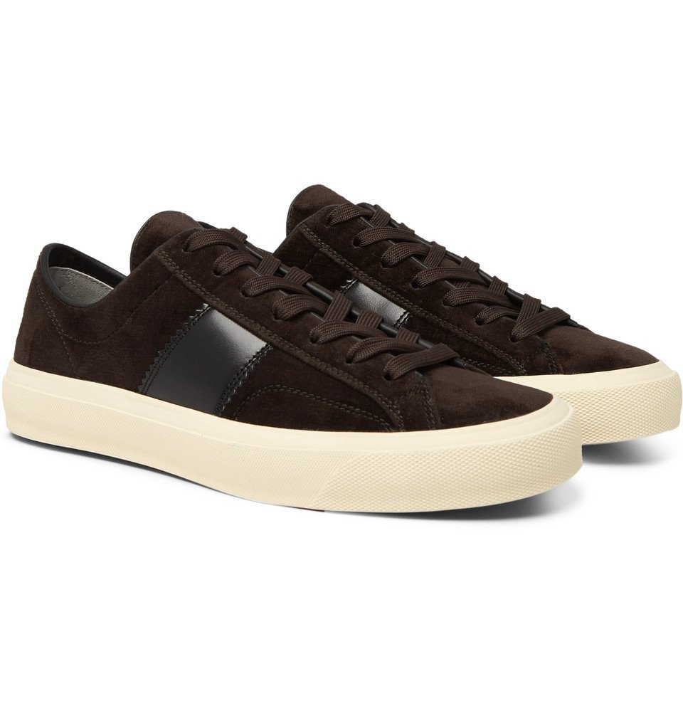 TOM FORD - Cambridge Leather-Trimmed