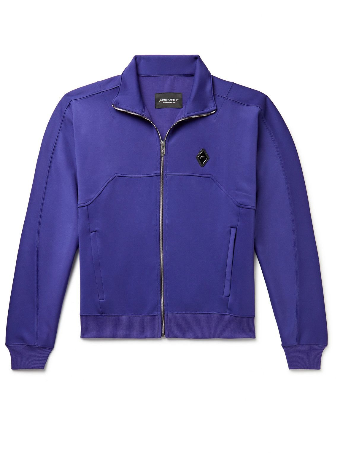 Photo: A-COLD-WALL* - Logo-Appliquéd Tech-Jersey Track Jacket - Blue