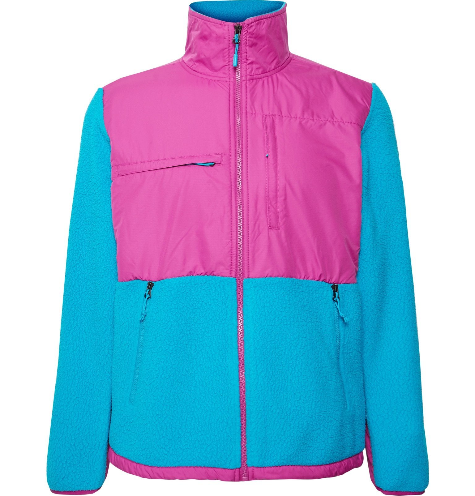 Photo: The North Face - Denali Panelled Fleece and Shell Jacket - Blue
