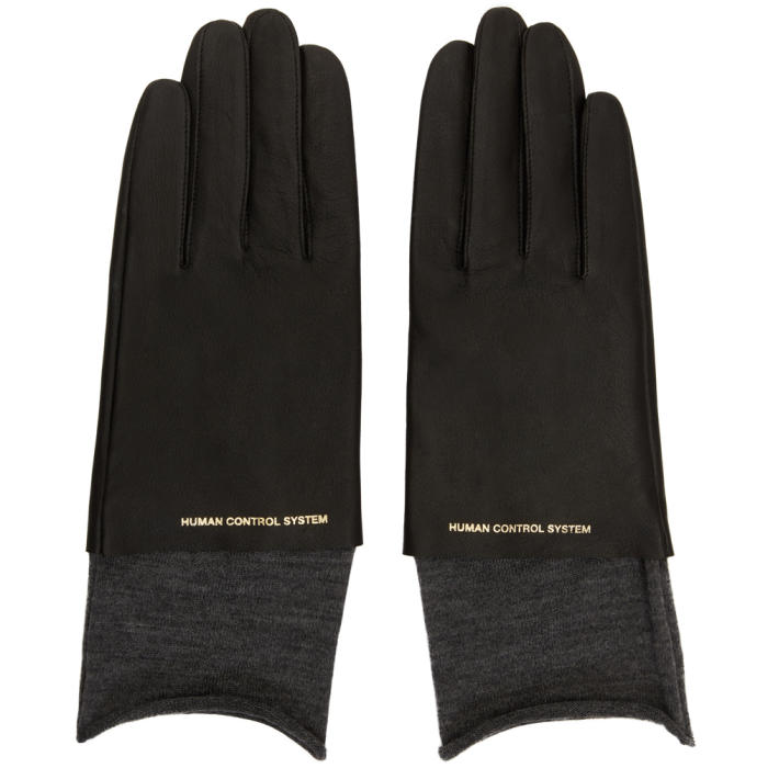 Photo: Undercover Black Leather Gloves