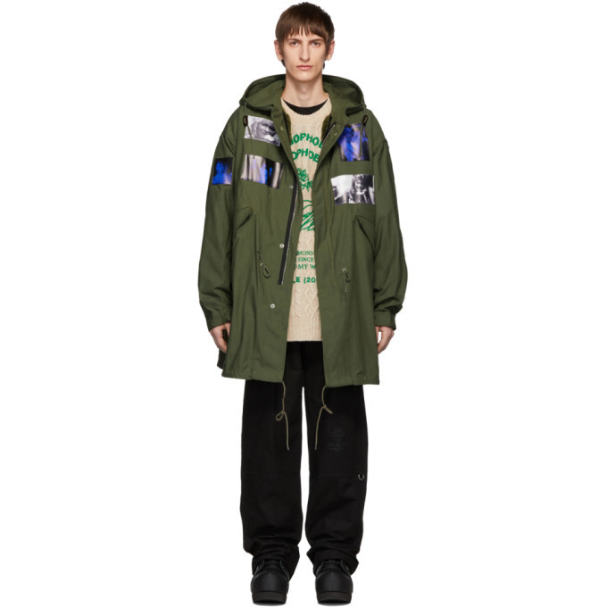 Photo: Raf Simons Green Patches Parka