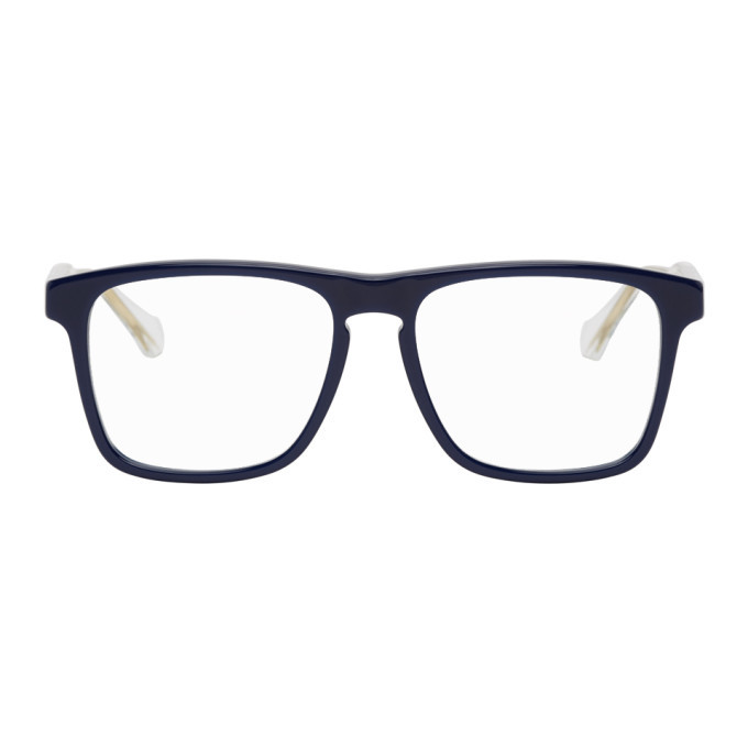 Photo: Gucci Blue and Transparent Square Glasses