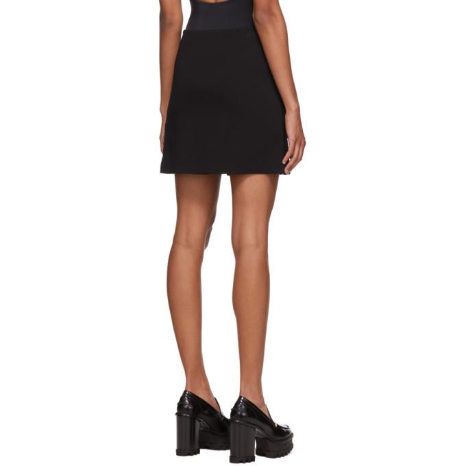 Versace Black Crepe Pin Miniskirt