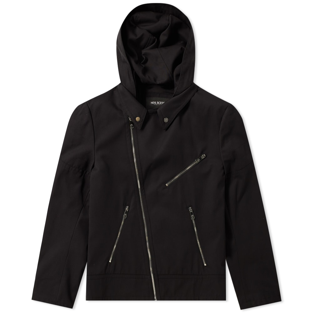 Photo: Neil Barrett Zip Hooded Biker Jacket