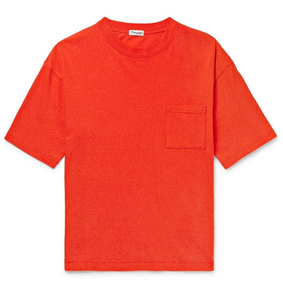 Photo: Camoshita - Cotton-Jersey T-Shirt - Tomato red