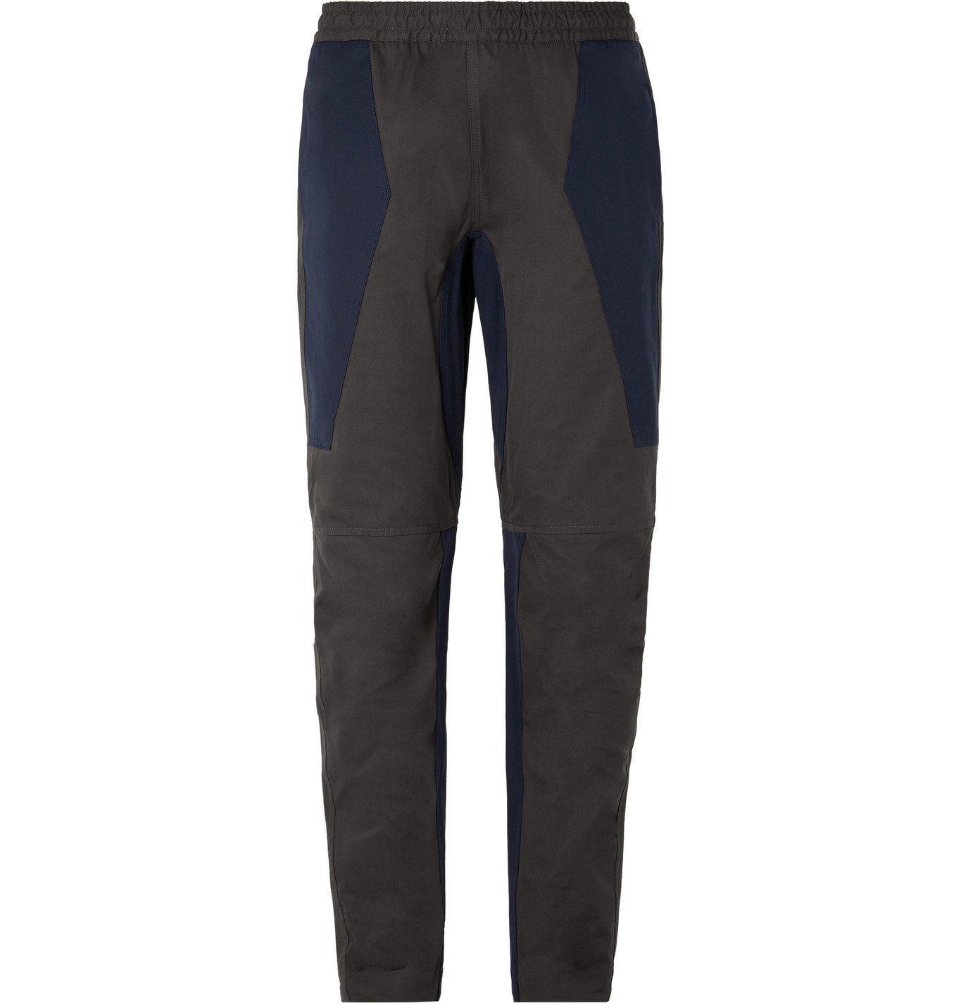 Photo: Bottega Veneta - Slim-Fit Tapered Panelled Cotton Trousers - Gray