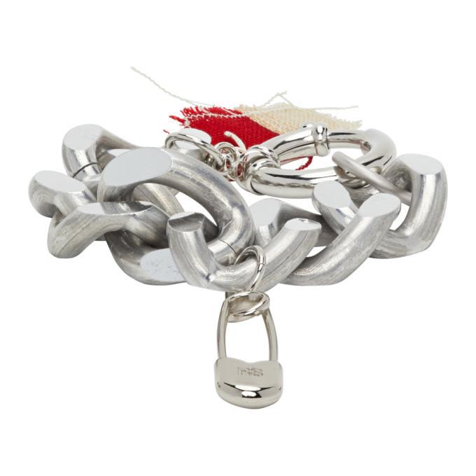 Photo: Raf Simons Silver Big Chain Safety Pin Bracelet