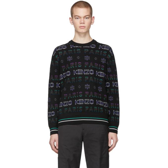 Photo: Kenzo Black and Purple Limited Edition Holiday Knit Sweatshirt