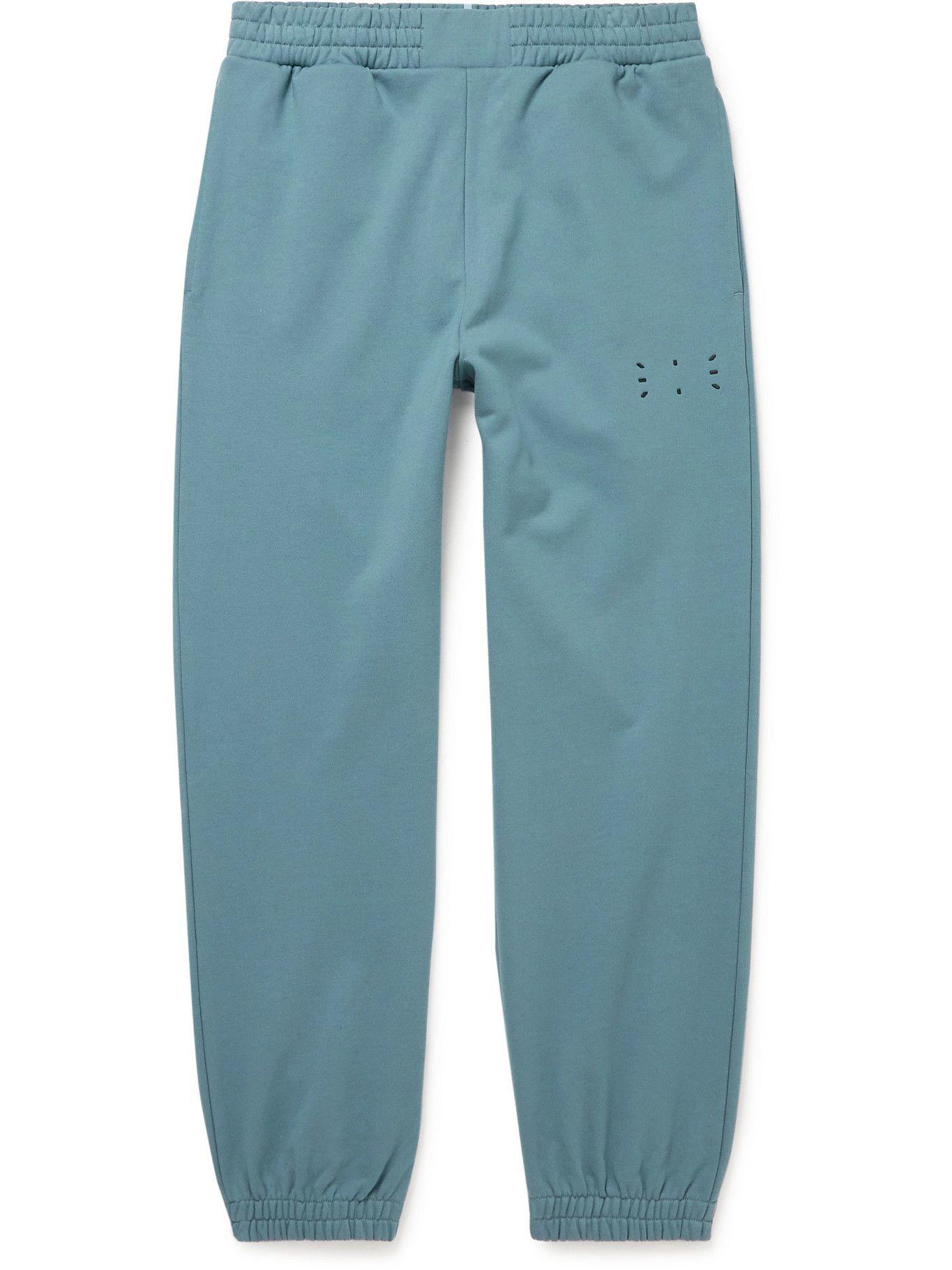 MCQ - Logo-Appliquéd Cotton-Jersey Sweatpants - Blue
