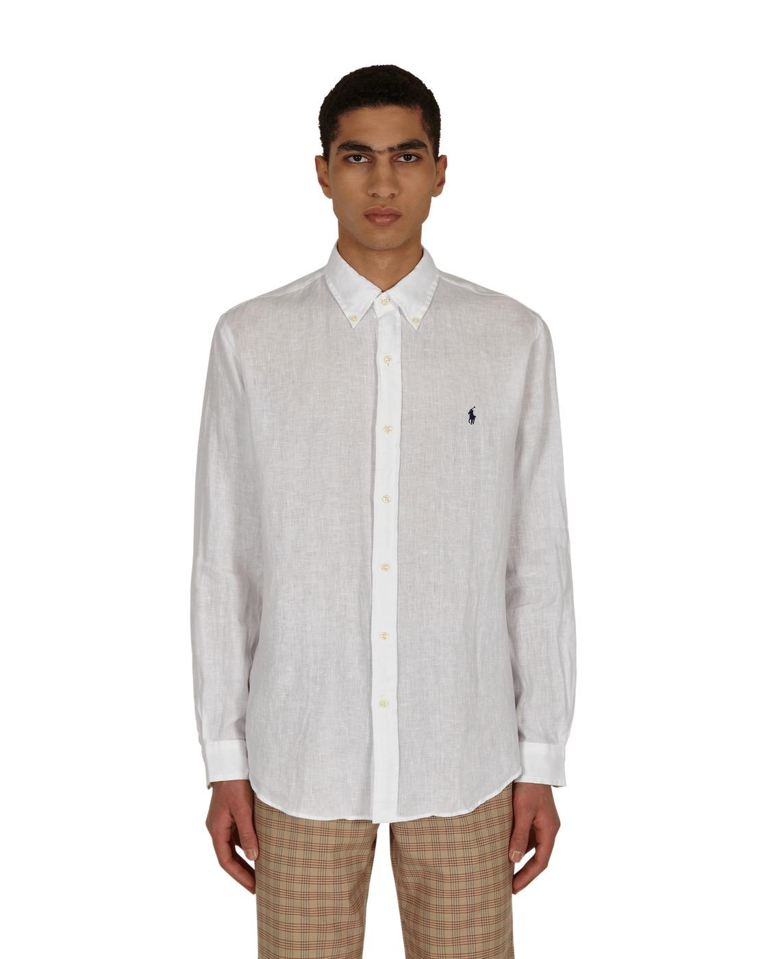 Photo: Polo Ralph Lauren Custom Fit Linen Shirt White