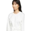 3.1 Phillip Lim White Belt Tie Pullover