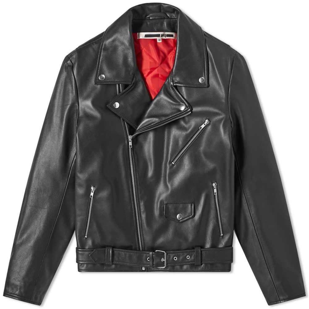 Photo: McQ Alexander McQueen Gang Leather Biker Jacket