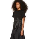 3.1 Phillip Lim Black Poplin Combo T-Shirt Dress