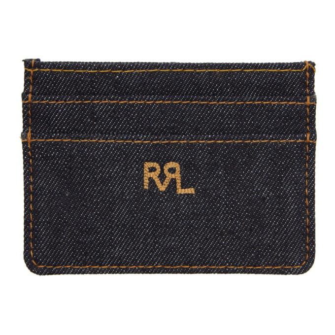 RRL Indigo Denim Card Holder