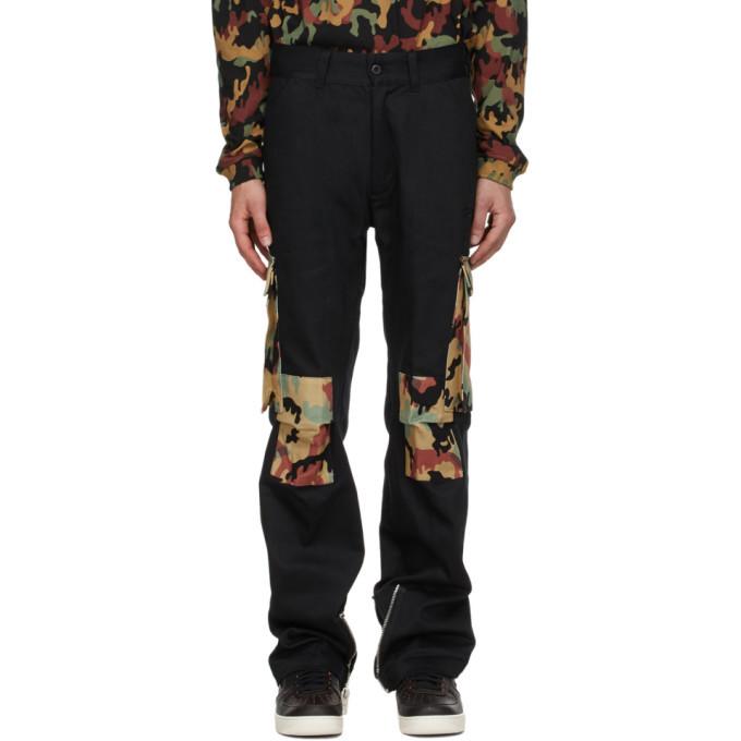 Photo: 424 Black Camo Cargo Pants