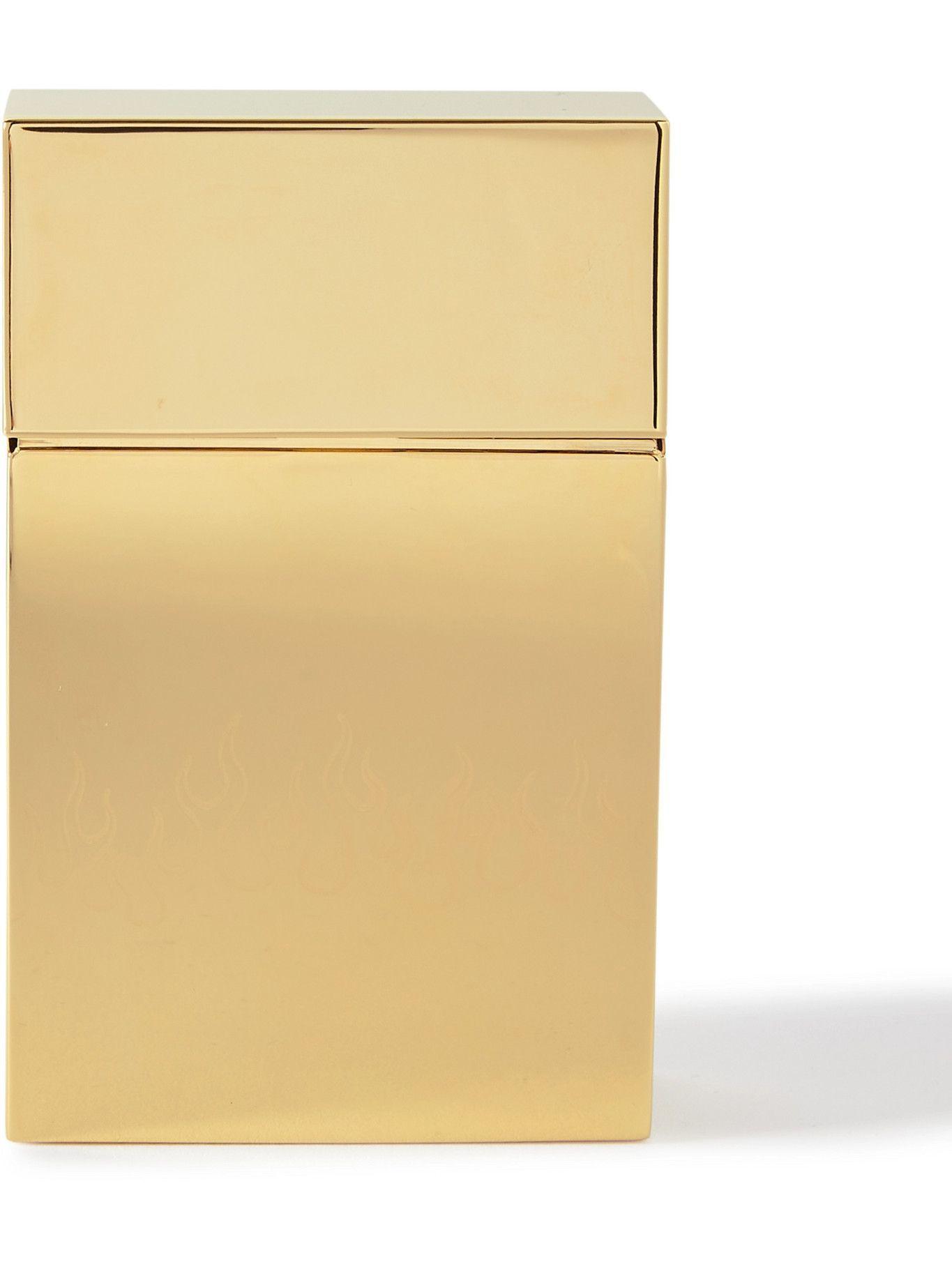 Photo: Vetements - Engraved Gold-Tone Case
