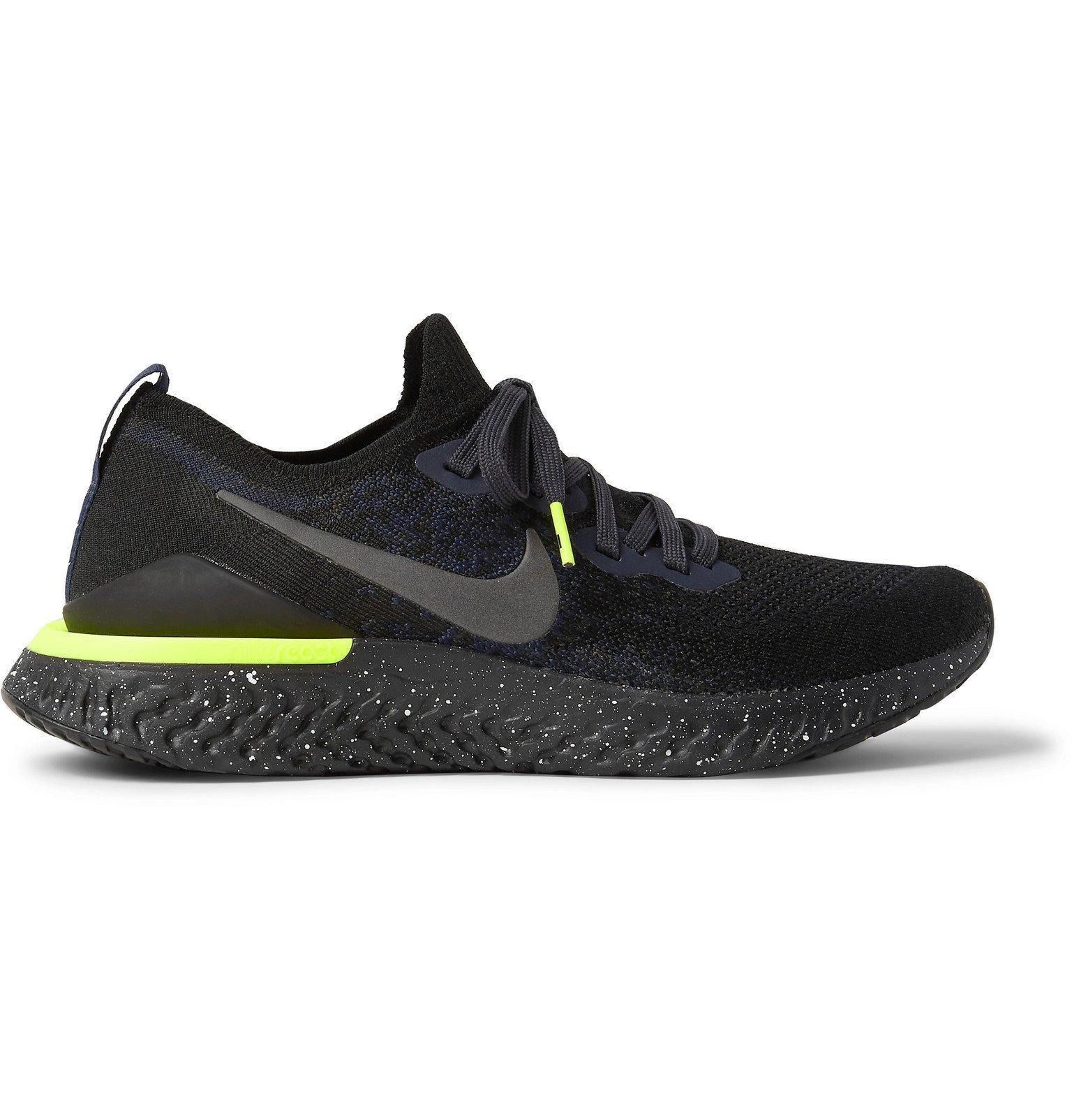 Nike Running - Epic React 2 Flyknit Running Sneakers - Black