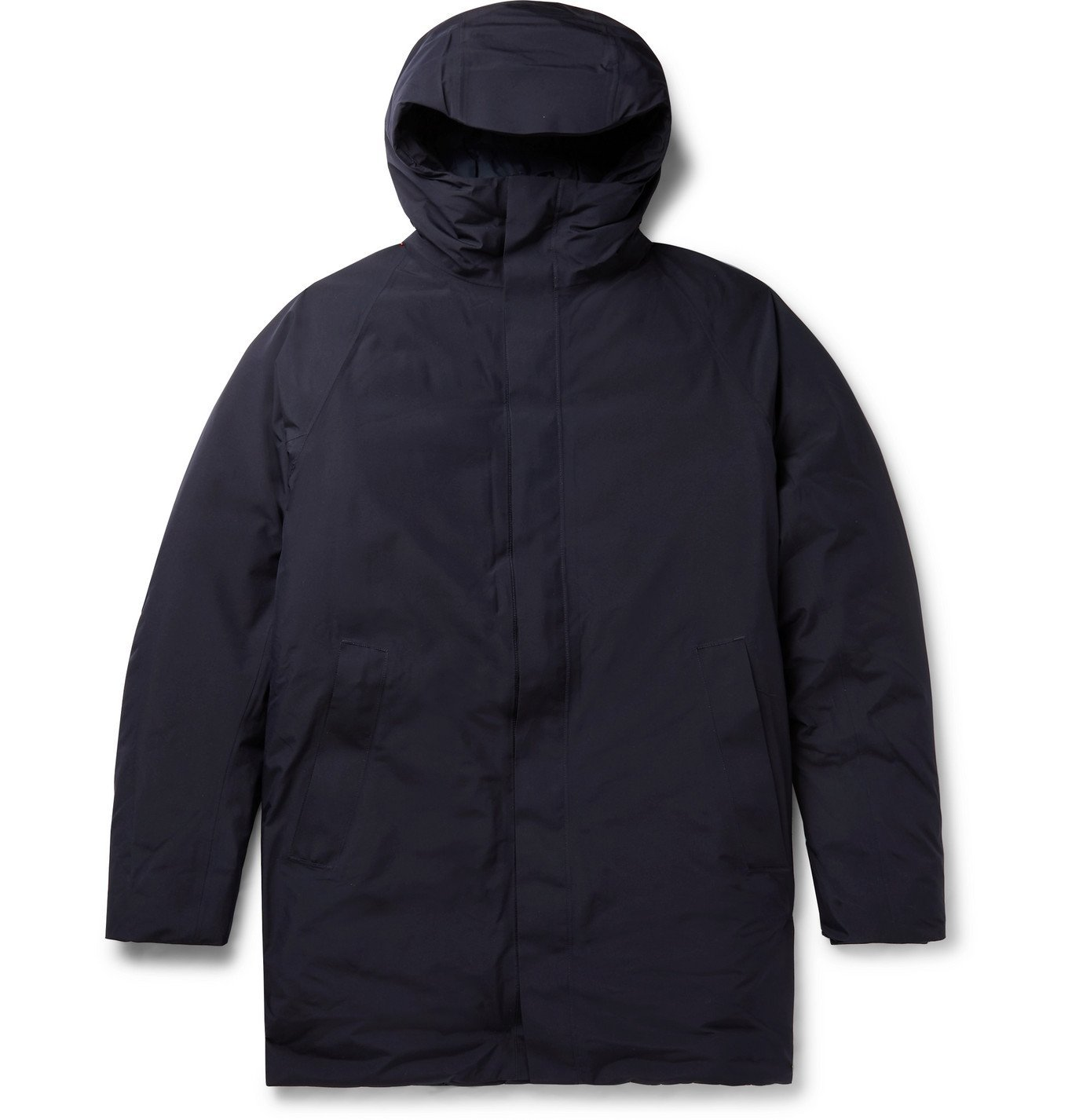 Photo: Norse Projects - Rokkvi 5.0 GORE-TEX Hooded Down Parka - Blue