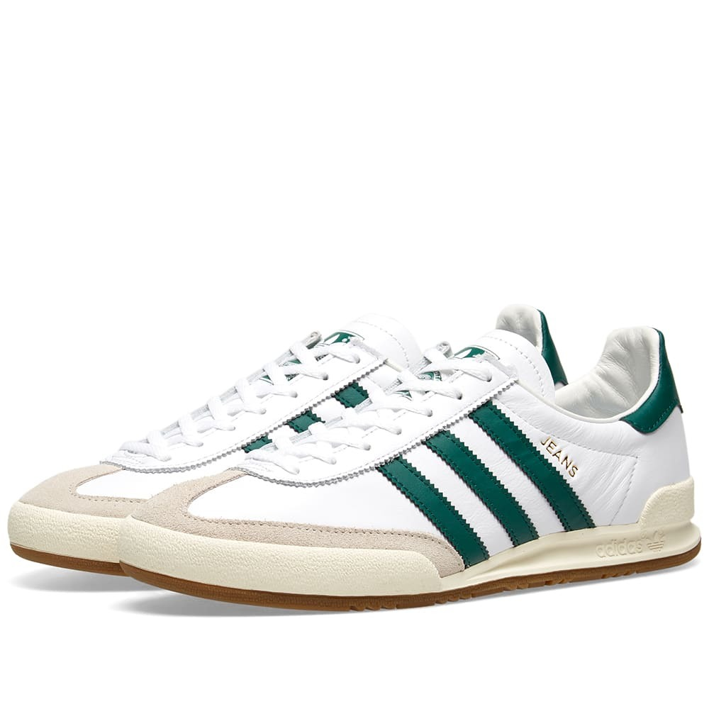 Adidas Jeans White, Green & Clear Brown