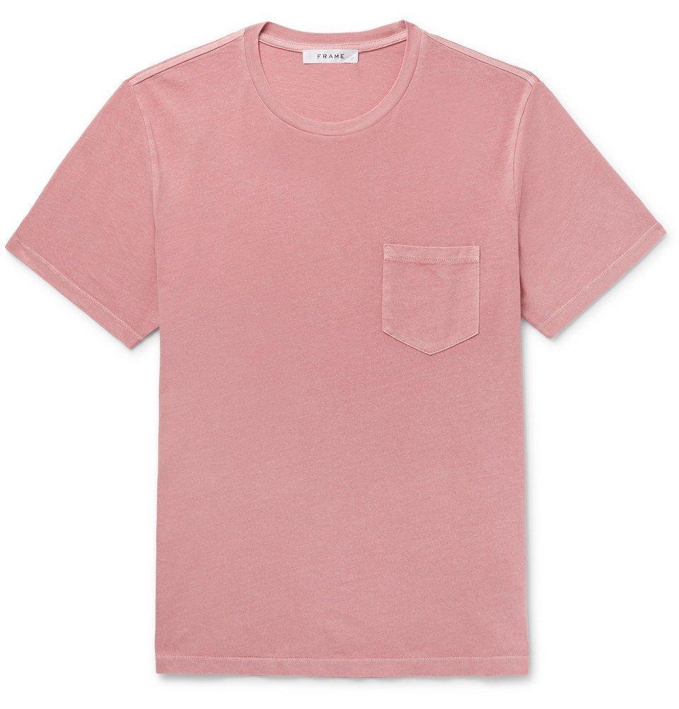 Photo: FRAME - Cotton-Jersey T-Shirt - Pink