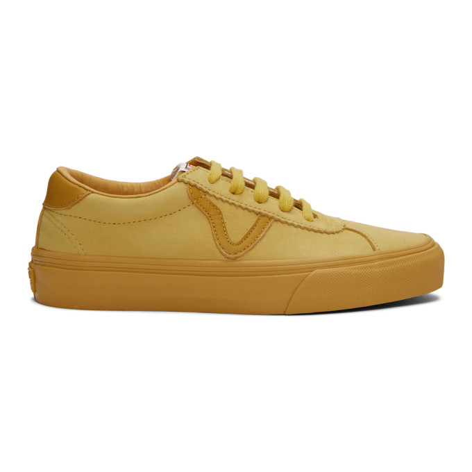 Photo: Vans Yellow Nubuck Epoch Sport LX Sneakers