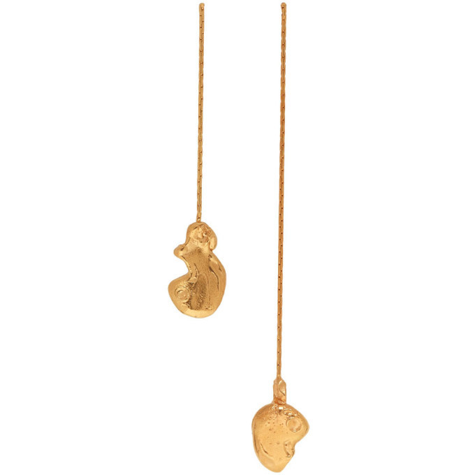 Alighieri Gold The Fragmented Escapade Earrings