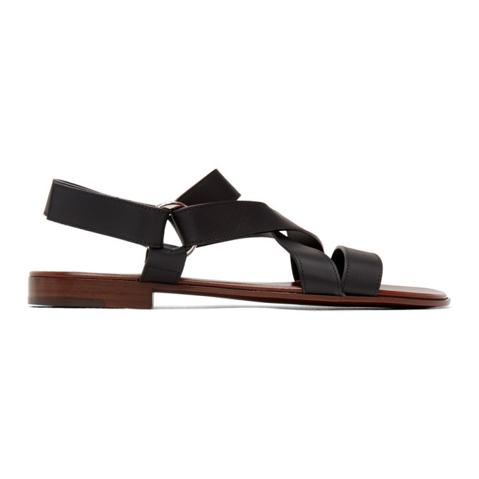 Photo: Giuseppe Zanotti Black Liam Sandals