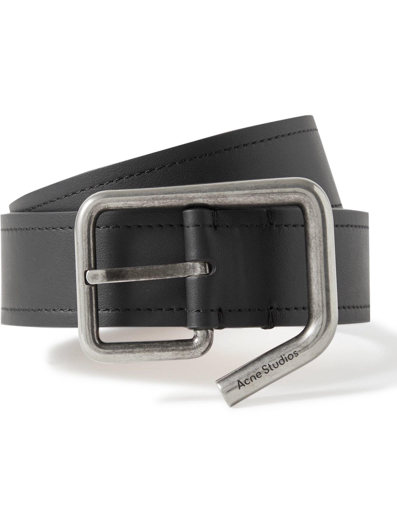 Acne Studios - 3.5cm Leather Belt - Black