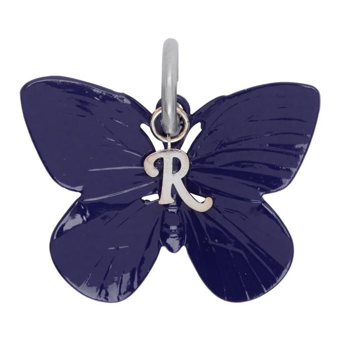 Raf Simons Blue Butterfly Charm Keychain