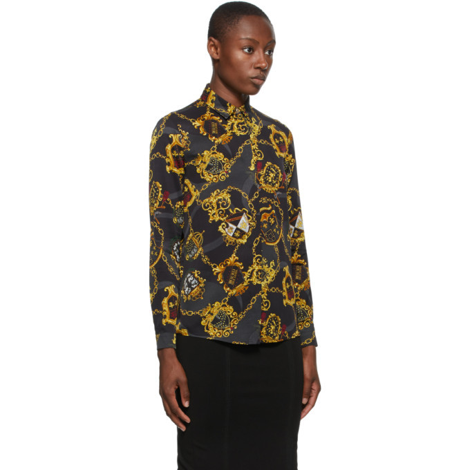 Versace Jeans Couture Black Shields and Chains Shirt