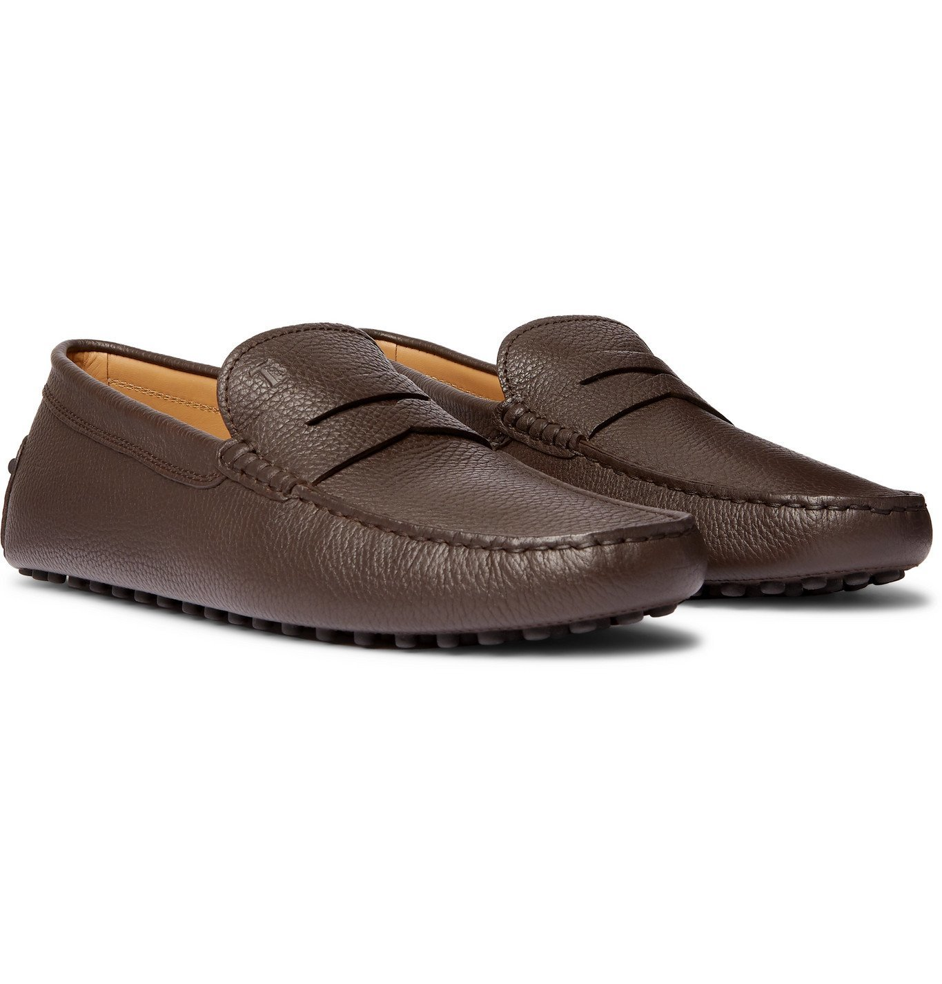 Tod's - Gommino Full-Grain Leather Penny Loafers - Brown