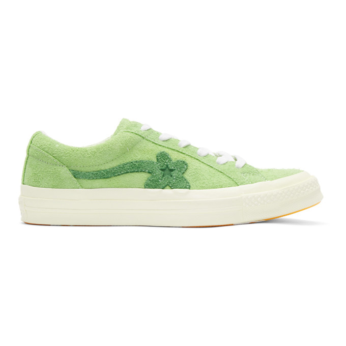 Converse Green Golf Le Fleur Edition One Star Sneakers
