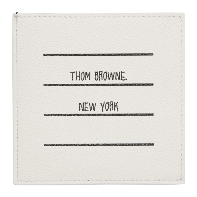 Photo: Thom Browne White Paper Label Single Card Holder