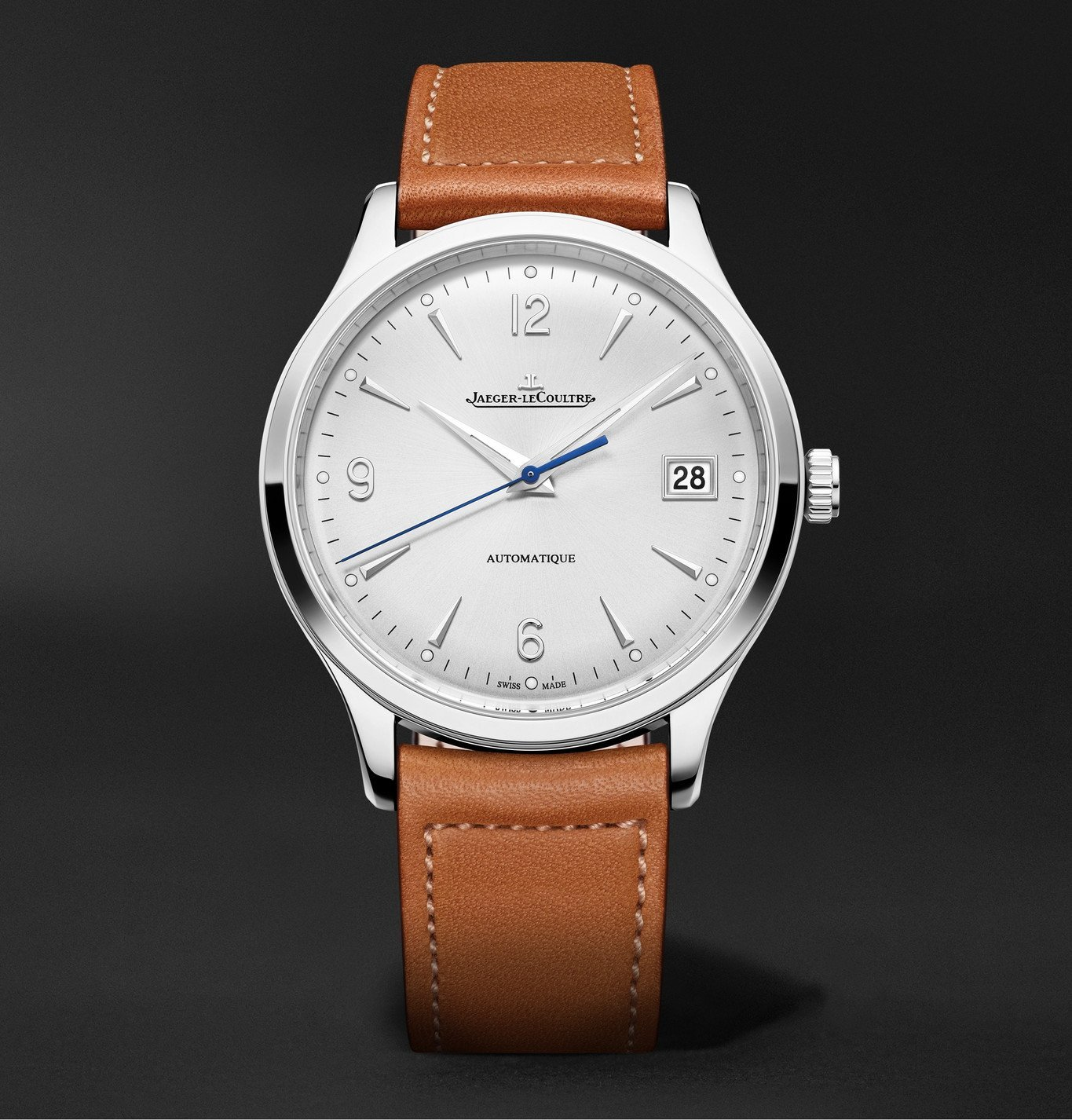 Photo: Jaeger-LeCoultre - Master Control Date Automatic 40mm Stainless Steel and Leather Watch, Ref No. 4018420 - White