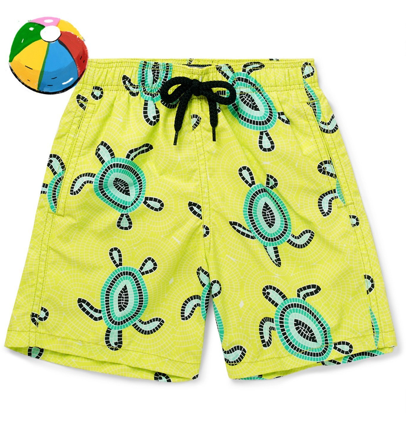 Photo: Vilebrequin - Boys Ages 10 - 12 Jim Printed Swim Shorts - Yellow