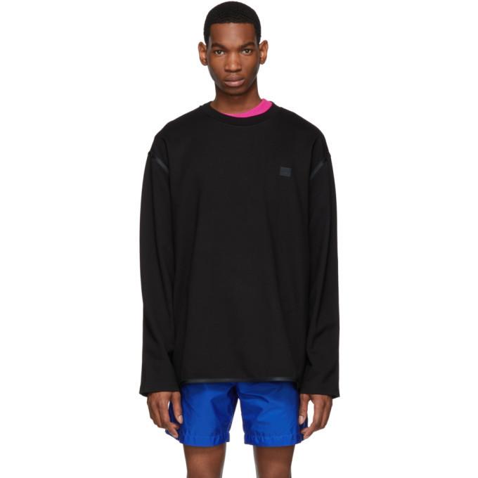 Photo: Acne Studios Black Ferke Face Sweatshirt