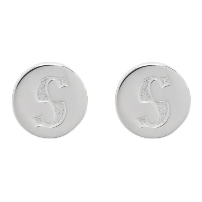 Photo: Stolen Girlfriends Club Silver S-Logo Cap Earrings