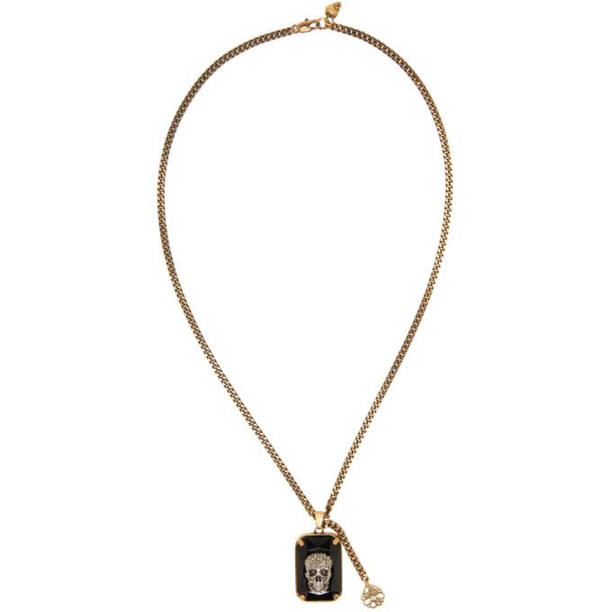 Photo: Alexander McQueen Black Crystal Skull Necklace