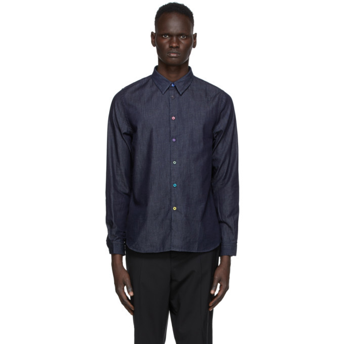 Photo: PS by Paul Smith Navy Chambray Shirt