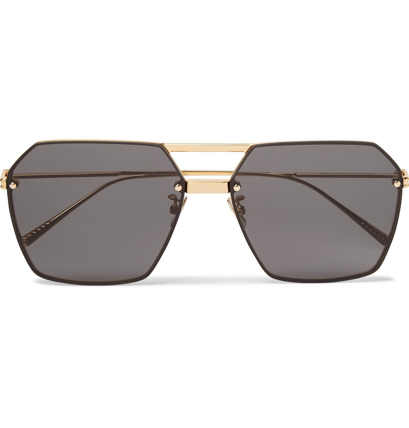 Photo: Bottega Veneta - Aviator-Style Gold-Tone Sunglasses - Gold