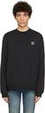 Raf Simons Black Fred Perry Edition Laurel Wreath Detail Sweatshirt