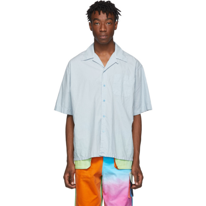 Photo: Marni Blue Poplin Short Sleeve Shirt